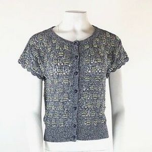 NWT Anthropologie 100% Linen Beaded Sweater